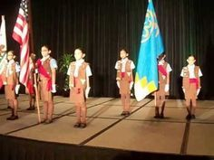 Brownie Girl Scout Troop 2719 Performs an Official Flag Ceremony...These girls are Amazing! (05-07-13)