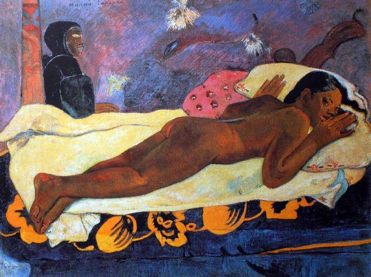 Paul Gauguin - Post Impressionism - Tahiti - L'Esprit de Mort veille - 1892