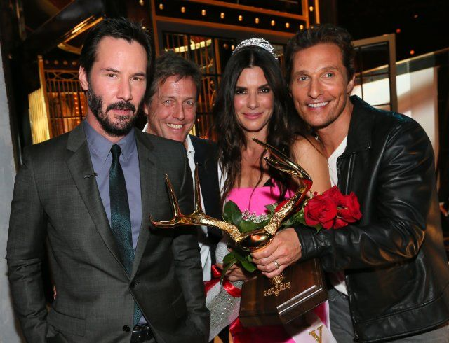 "Sandra Bullock, Matthew McConaughey, Keanu Reeves, Hugh Grant - Spike TV's ""Guys Choice 2014"""