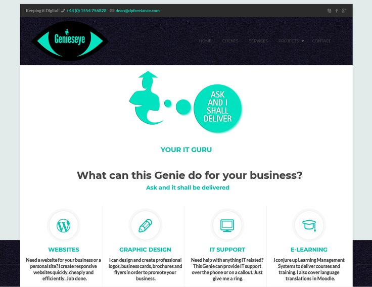 Genieseye - Your IT Guru. Offering Websites, Graphic Design, IT Support and E-learning services.