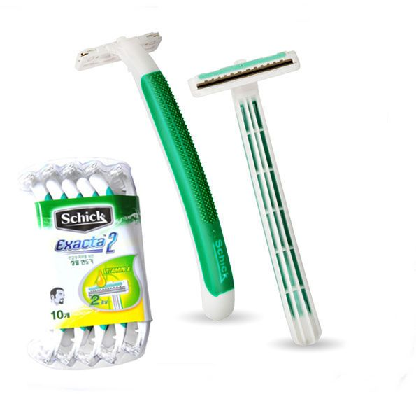 Schick Exacta 2 Disposable Razor 40pcs, Twin Blades Sensitive Skin Vitamin E  #Schick