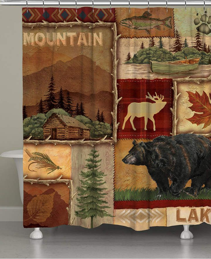 Laural Home Lodge Collage Shower Curtain Reviews Shower