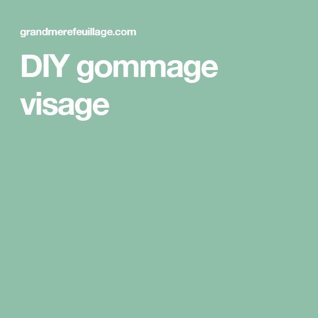 DIY gommage visage