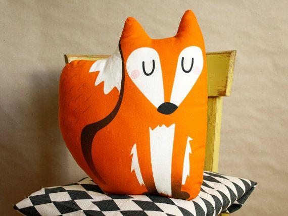 DIY Fox kussen, crafting, fox kussen, home decoratie, materiële set, instructie naaien