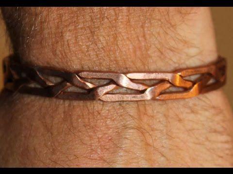 fabrication d'un bracelet en cuivre avec trois brins ! make a cooper bracelet…