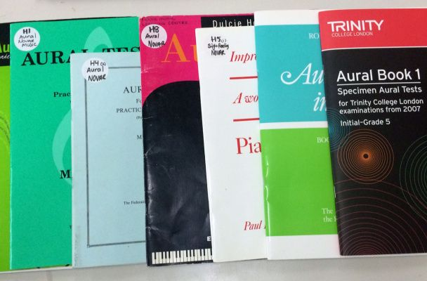 Aural Training and Testing Books in my Studio