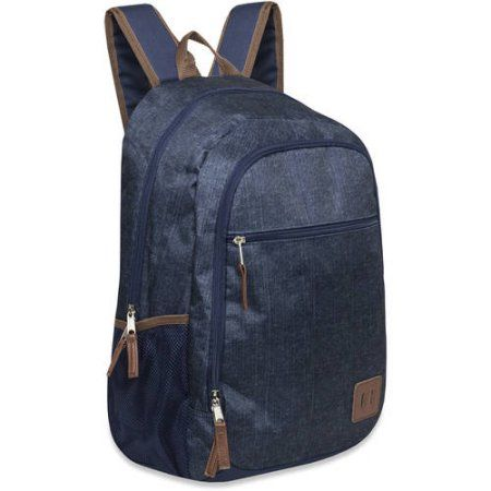 For extra water $7.60 Blue Day pack 19 Inch Printed Heather Deluxe Backpack with Vinyl Trimming - Walmart.com