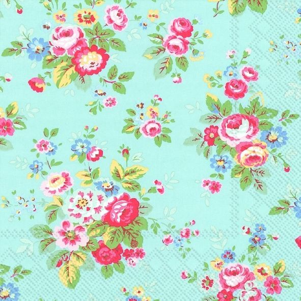 Cath Kidston Trailing Flower Blue paper napkins new autumn ...