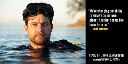 Season two of the Emmy-winning climate change series, 'Years of Living Dangerously', airs on the National Geographic Channel Wednesdays at 10/9c. In the next episode, Joshua Jackson explains why he cares about solving climate change and saving the world's oceans. http://on.natgeo.com/2fDjzeb