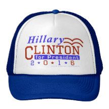 Hillary Clinton President 2016 Election Democrat Trucker Hat / See All Hillary Clinton Merchandise Here: http://www.zazzle.com/politicaltheatre/gifts?cg=196433193935217850&rf=238713858877306074&tc=pinterest