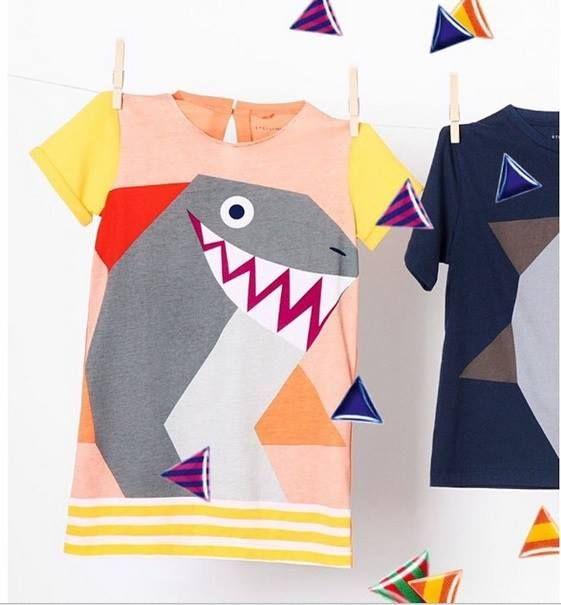 Con gli squali di Stella McCartney Kids l'estate è un'avventura subaquea..online boy and girl  http://www.cocochic.it/it/16_stella-mccartney-kids