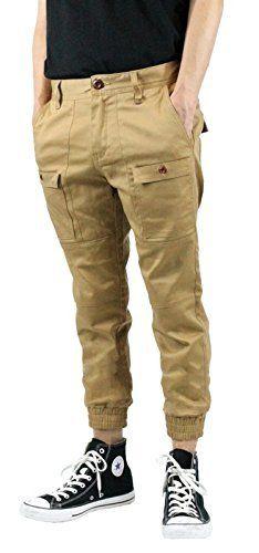 Cargo Joggers Pants Twill Khaki Front Style 4 Pockets 2 Back Pockets, http://www.amazon.com/dp/B00QSG8WSM/ref=cm_sw_r_pi_awdm_Ho7Hub0PDVP21