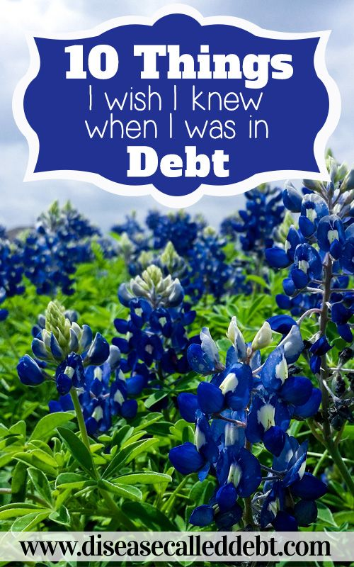 10 Things I Wish I Knew When I Was in Debt - I've described 10 things I wish I'd known during the height of our debt. If you're currently struggling with debt, I hope this post is of some help to you!