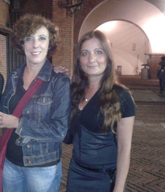 Con l'attrice di Zelig e di teatro  Faiella