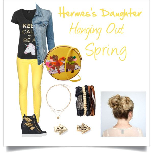 Hermes's Daughter Spring #5 by h-zita on Polyvore featuring George, LE3NO, Pepe Jeans London, Giuseppe Zanotti, Olympia Le-Tan, Aéropostale, percyjackson, hermes, pjo and Demigod