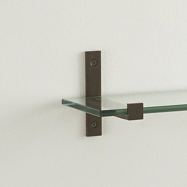 Glass Shelves Mounting Brackets Glassshelveswithwiresupports Repisas De Vidrio Lampara Madera Estantes Flotantes