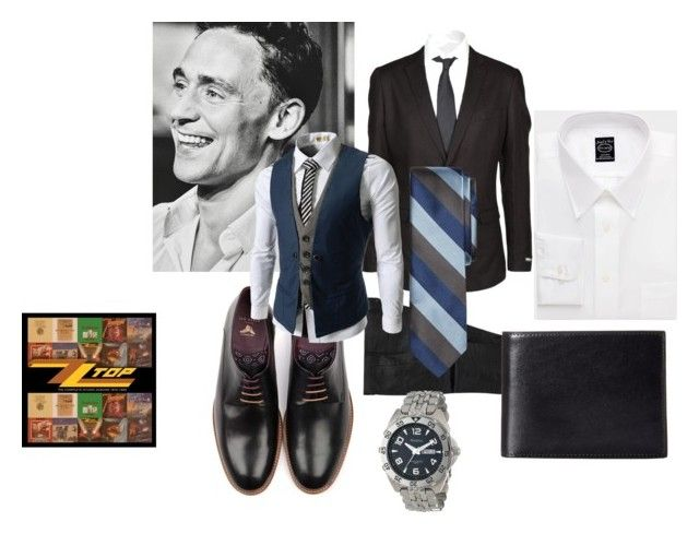 """#197-menswear"" by caremcbear ❤ liked on Polyvore featuring DKNY, Brooks Brothers, Ted Baker, TheLees, Feiss, Bosca and Armitron"