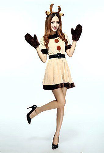 Womenu0027s Reindeer Costume  sc 1 st  Pinterest & 22 best Christmas Costumes images on Pinterest | Christmas costumes ...