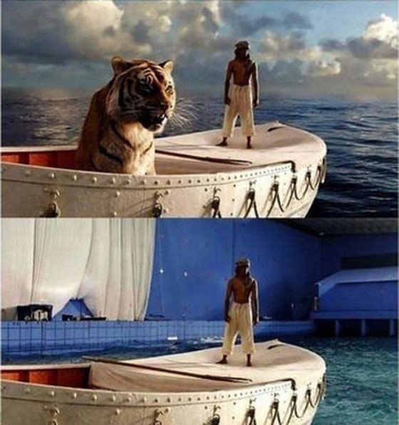 """Shot of """"Life of Pi"""" without Visual Effects"""