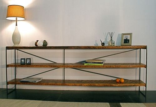 long sofa table wood