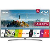 "LG 49UJ670V LED HDR 4K Ultra HD Smart TV, 49"" with Freeview Play & Crescent Stand, Grey at John Lewis"