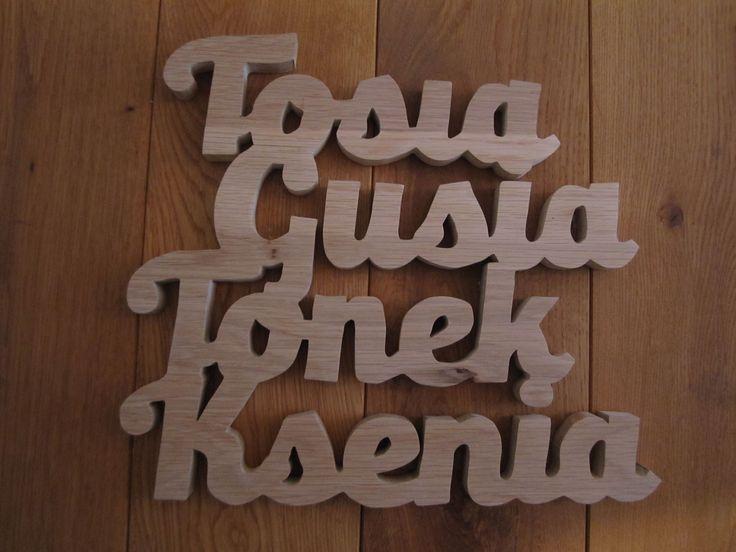 Imiona wykonane z drewna