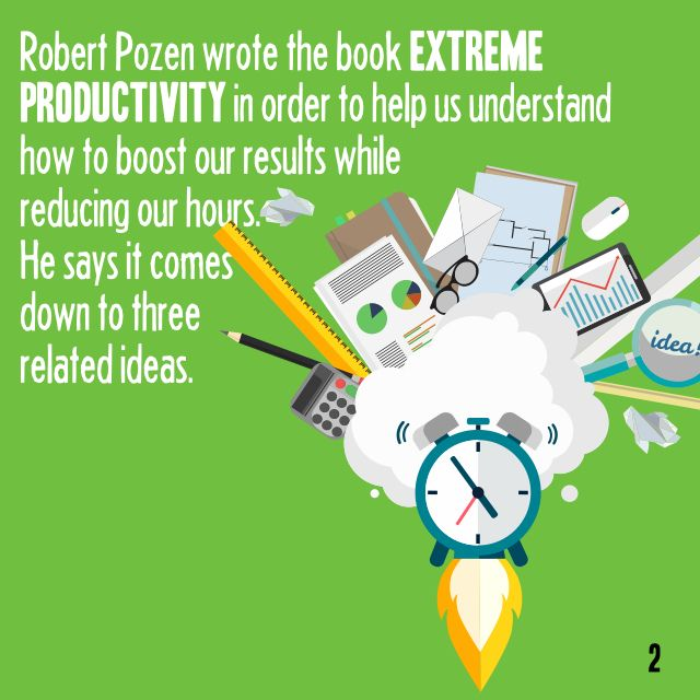Today's Book Brief: Extreme Productivity. Want to see the 12-minute version? Sign-up today for a FREE account at www.readitfor.me.