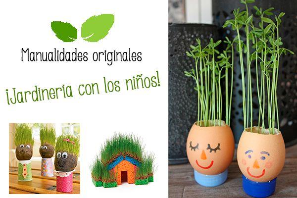 1000 ideas sobre macetas con material reciclado en for Manualidades de jardineria