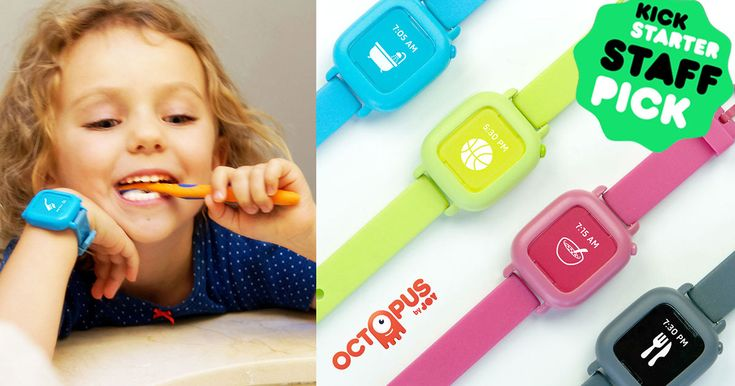 Octopus by Joy  1st icon-based watch that teaches kids good habits and time