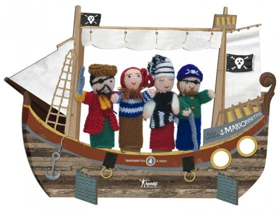 Pirates Wool Finger Puppets could also make a pirate ship theatre