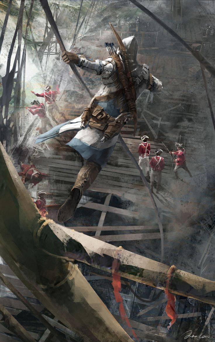 """Assassin's Creed III"" concept art by Max Qin                                                                                                                                                                                 More"