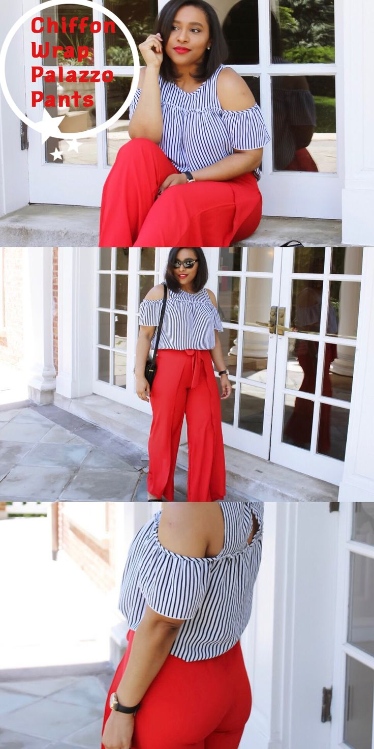 Chiffon Wrap Palazzo Pants | I finally got my hands on a pair of palazzo pants that don't drown my 5'1 body. I'm actually very proud of myself because I...