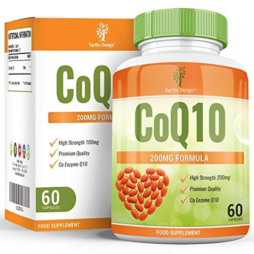 From 18.97 Coq10 200mg - Double Strength Coenzyme Q10 - Ubiquinone - 60 Capsules (30 Day Supply) By Earths Design