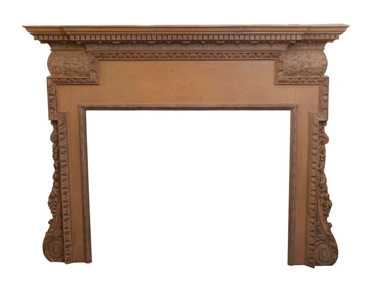 Neoclassical Carved Wood Mantel