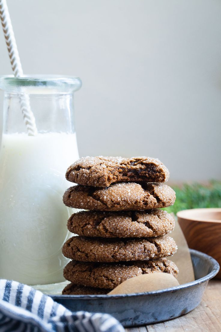 Salted Bacon Fat Ginger Molasses Cookies {gluten-free} from @snixy