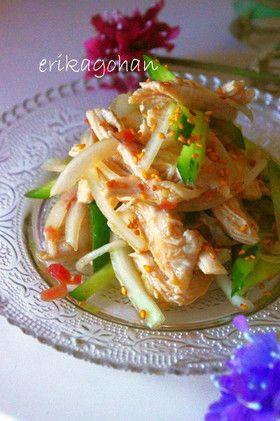 中華風 梅と鶏胸肉のしゃきしゃきサラダ