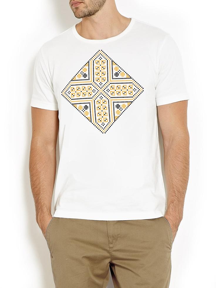 romanian motif digitally printed on 100% cotton t-shirt