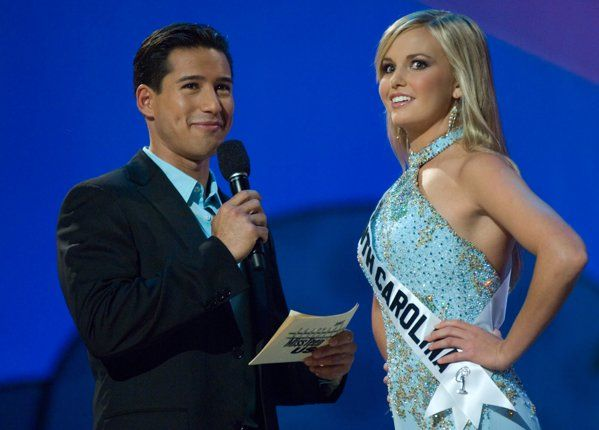 THEN: Lauren Upton was immortalized for her bumbling  political rhetoric. Miss South Carolina 2007