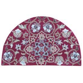 Red Semicircular Indoor Handcrafted Nature Throw Rug (Common: 2 X 3; Actual: 2-Ft W X 3.33-Ft L X 3.33-Ft Dia) Jj-Ho-162