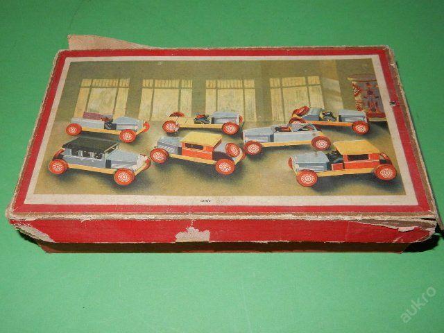 Auto - velmi stará skládačka - včetně krabice (6151932823) - Aukro - největší obchodní portál