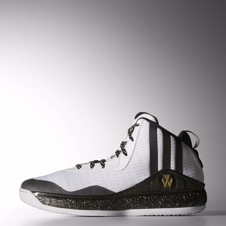 These men's basketball shoes are built just for the king of hang time and his appearance on the All Star court in New York. Inspired by New York's style and John Wall's unbreakable defensive game, they show off Wall's logo and big vertical 3-Stripes on the side. With snakeskin details, they have a gold speckled midsole and feature a synthetic mesh upper and metallic gold J Wall logos on the tongue and side.