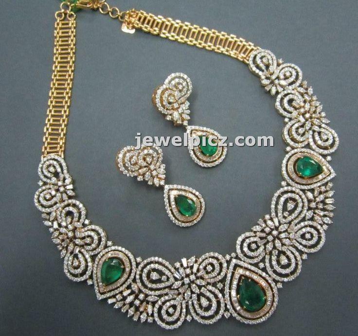Diamond necklace set designs in Tibarumal jewellers ~ Latest Indian Jewellery designs