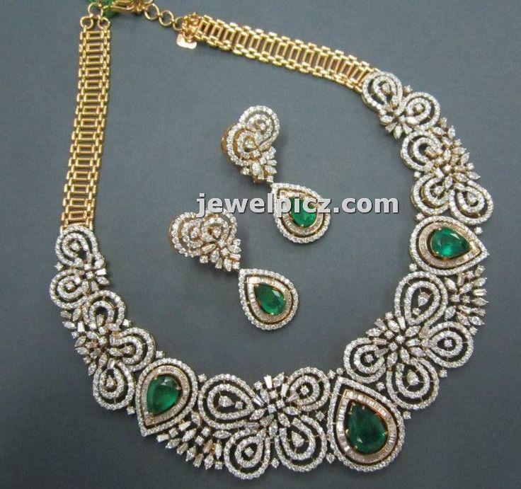 Diamond necklace set designs in Tibarumal jewellers ~ Latest Indian Jewellery designs
