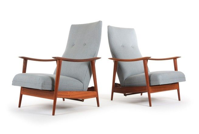 Danske Mobler 'Rock n Rest' Chairs + One Ottoman - Mr. Bigglesworthy Designer Vintage Furniture Gallery