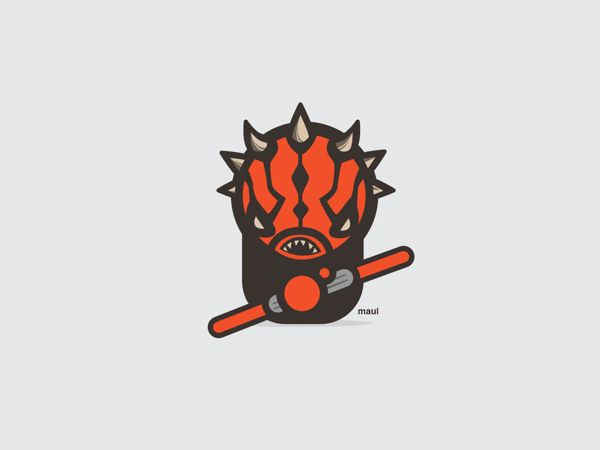 Darth Maul | Darth Maul | 9 Insanely Cute 'Star Wars' Illustrations  The work of UK-based illustrator Konrad Kirpluk.