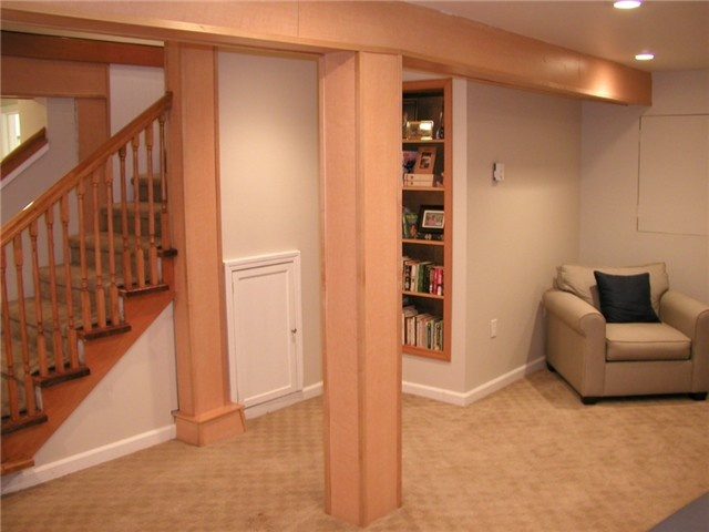 beams on pinterest modern basement finished basement designs and