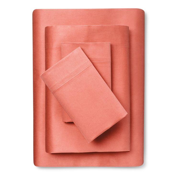 100% Cotton Sheet Set (Twin/Twin Extra Long) Peach - Room Essentials, Georgia Peach