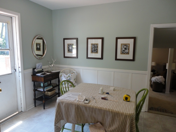 Rainwashed by Sherwin Williams. I .  this color is almost identical to Ben Moore Palladian Blue