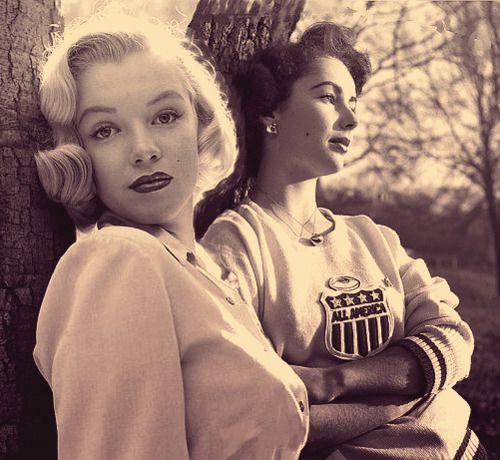 Marilyn Monroe and Elizabeth Taylor