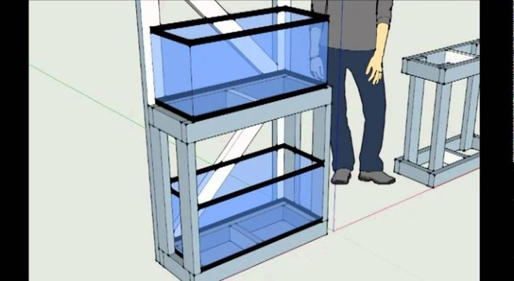 Double 20 gallon long aquarium stand - view here - piece 1